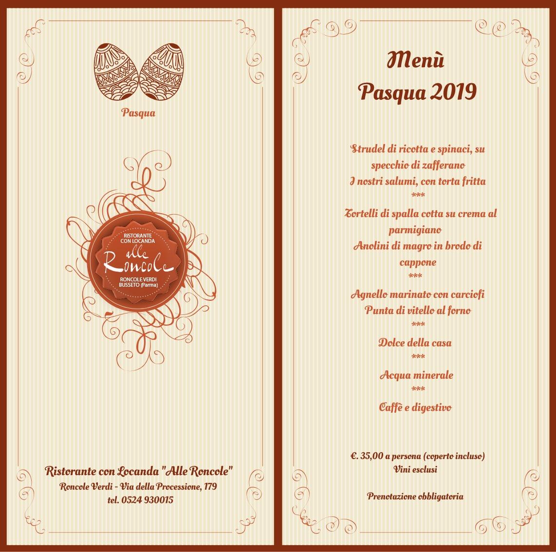 Menù Pasqua 2019